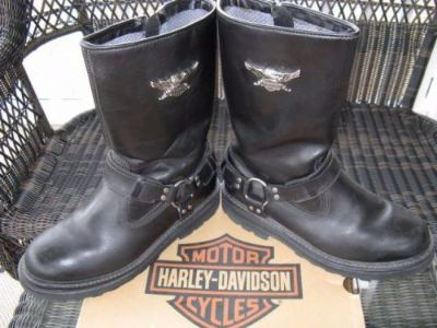 "Sell Harley-Davidson Stratus Leather Motorcycle 13"" Harness Boots Men's Size 9.5 M motorcycle in Mount Joy, Pennsylvania, United States, for US $69.00"