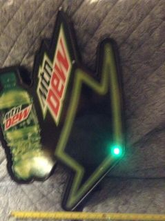 Mountain Dew sign with flashing LED lights $10