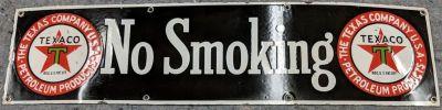 Black Texas Company No Smoking sign