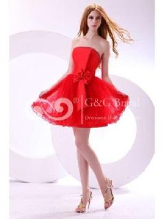 Massoo Ruby Tulle A-line Semi-formal Dress Knee-length with Bow MS78HZ622