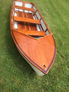 classic looking rowboat