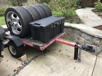 Utility Trailer - Race Track Tire Tool Box - lockable