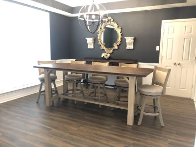 8 counter height farm table set