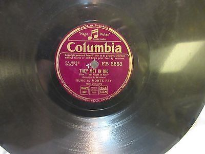 "antique 1941 they met in rio rey 78 rpm record etched album 10"" double sided"