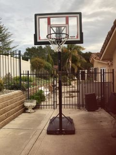 Heavy duty adjustable basket ball stand with hoop