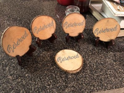Wooden Reserved table markers