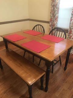 Kitchen Table W/ Chairs & Bench
