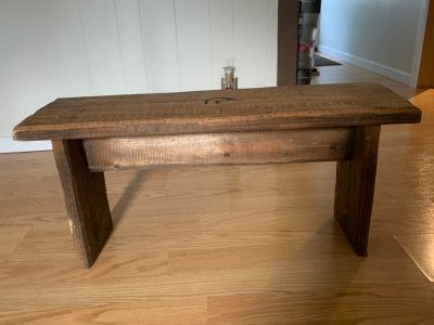 Small wooden bench 35x11 $20