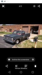 1984 C10 pro street short bed pickup truck