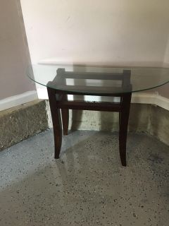 Glass top couch table