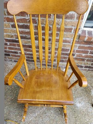 Rocking chair with cushions