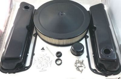 Buy SB Ford SBF Black Steel Engine Dress Up Kit W/ Air Cleaner 260 289 302 351W V8 motorcycle in Burbank, California, United States, for US $69.99