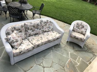 Wicker Sofa and Chair Patio Set