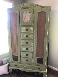 Antique, redone wardrobe