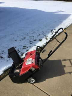 MURRAY SNOWBLOWER HAS BEEN IN BASMENT AND GAS DRAINED