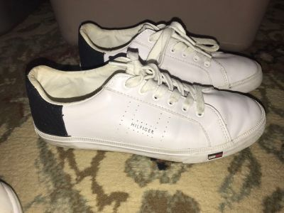 Woman s nike cleat sneakers size 8.5 Woman s Tommy Hilfiger tennis shoes size 8.5 Cross posted, pick up south side Allentown $12.00 each