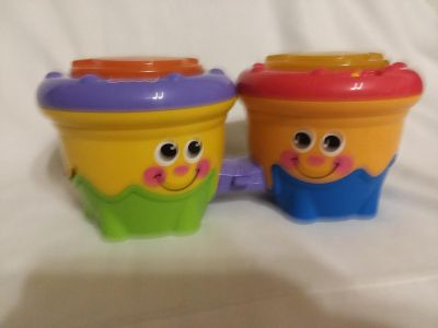 Fisher-Price Crawl Along Bongo Drums excellent used condition