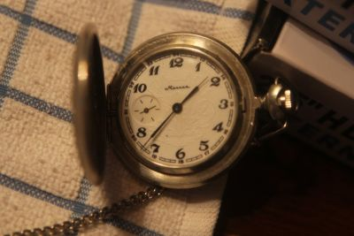 Russian Marnna Pocket Watch RARE - WORKING GREAT