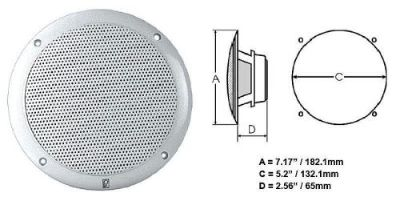 Purchase Poly-Planar #Ma4056w - Integral Grill Marine Speaker - 2-Way Coax - 6in Pair Wht motorcycle in Largo, Florida, United States, for US $92.89