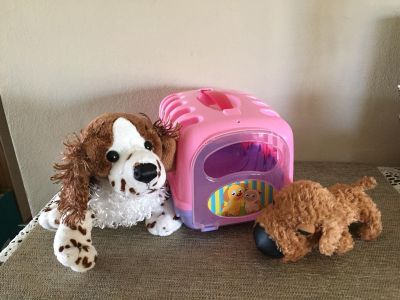 GANZ PUPPY springer spaniel and The Dog with carrying case 8 x 5