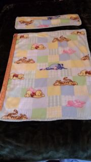fleece baby blanket with burp pad crochet edging
