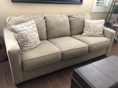 Beige couch from Living Spaces