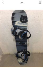 Burton Snowboard 44 1/2 With Bindings