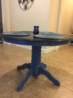 Beautiful Refinished Round Dining Table