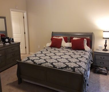 Queen Sz. Sleigh Bed Gray
