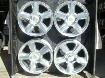 """Find 20"""" INCH SILVERADO TAHOE NEW FACTORY POLISHED CHEVROLET WHEELS 5308 WITH CAPS motorcycle in Walled Lake, Michigan, United States"""