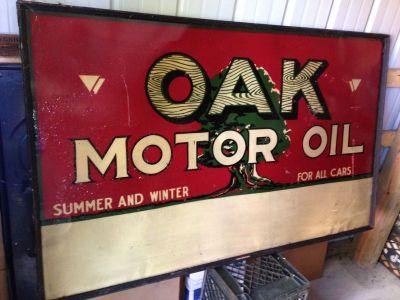 OAK Motor Oil tin sign