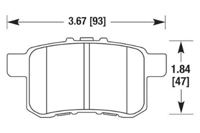 Sell HAWK HB626Z.577 - 09-10 Acura TSX Rear Brake Pads Ceramic motorcycle in Chino, California, US, for US $77.79