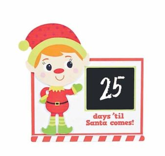 Elf Countdown to Christmas Chalkboard Sign ~ New