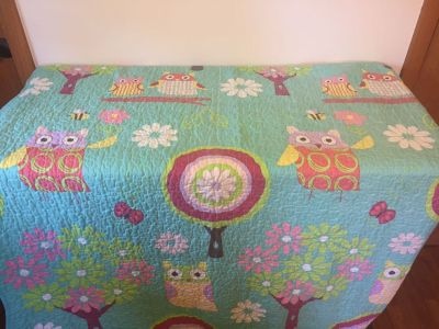 Twin/Queen Bed Spread Owls