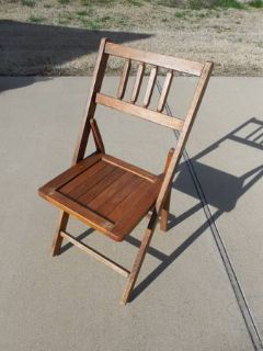 Cute Vintage Wooden Folding Chair