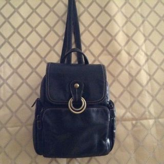 Backpack in genuine Leather