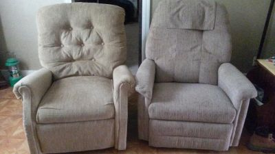 2 nice recliners.