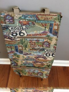 Route 66 Design Rolling Suitcase / Luggage Carrier