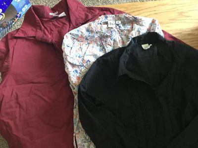 Maternity button up blouses