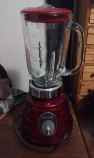 Beautiful Red Osterizer beehive blender EUC