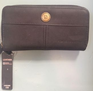 Stone Mountain Dark Gray ZIP Up Wallet Including Check Book, NWT