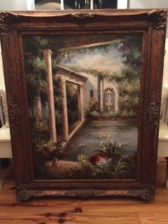 Large Painting in Ornate Frame