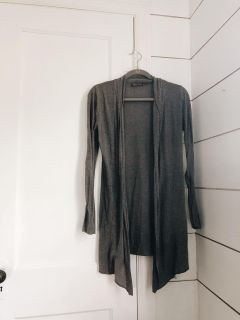 Charcoal Gray Long Cardigan (S)
