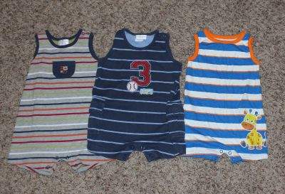 6 - 9 Month Sleeveless Outfits