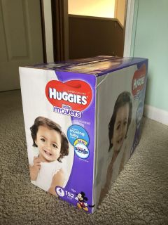 NEW box of Huggies size 4 diapers