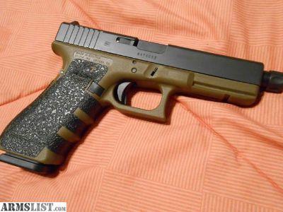 For Sale: Gen 4 FDE Glock 17 w/ threaded barrel