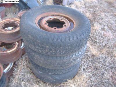 VW Bug ba ha off road 5 bolt rims + tires