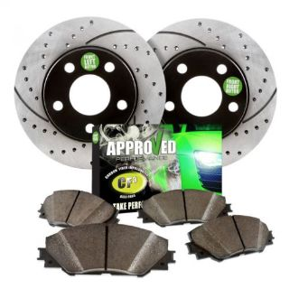 Buy Front Kit Performance Black Drilled/Slotted Brake Rotors and Ceramic Brake Pads motorcycle in Elk Grove Village, Illinois, United States, for US $129.77