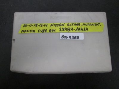 Buy 10 11 12 13 14 NISSAN ALTIMA MURANGO MAXIMA FUSE BOX #284B7-1AA1A *See item* motorcycle in Chatsworth, California, United States, for US $69.99