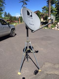Portable, high definition, DirecTv satellite dish